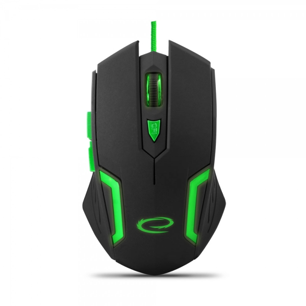 Esperanza mouse cu fir pentru gaming 6D OPT. USB MX205 Fighter verde